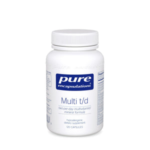 A bottle of Multi t/d - Pure Encapsulations