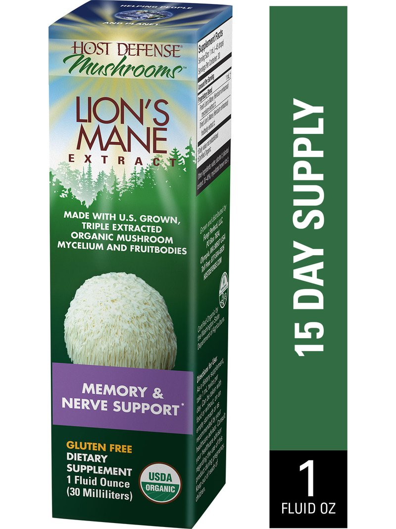 A package for Host Defense Lion's Mane Extract