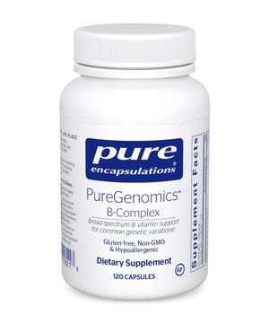 A bottle of Pure PureGenomics® B-Complex