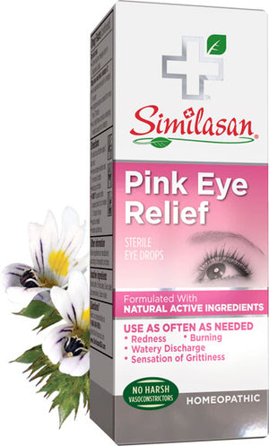 A package of Similasan Pink Eye Relief