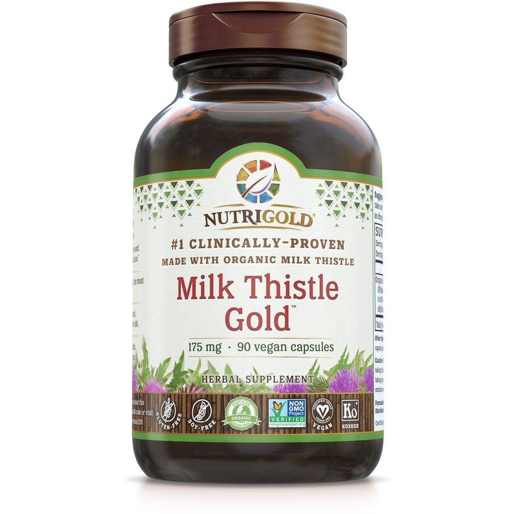 Milk Thistle Gold - 175 mg - Nutrigold - 90 capsules