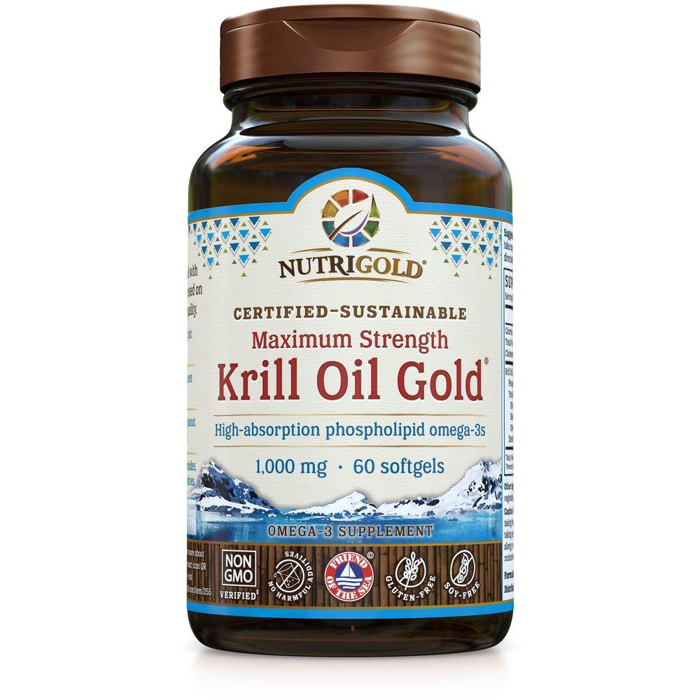 Krill Oil Gold Maximum Strength - Nutrigold - 60 softgels