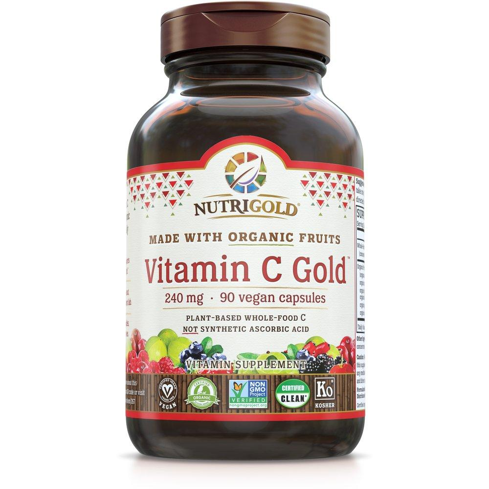 A bottle of Vitamin C Gold NutriGold