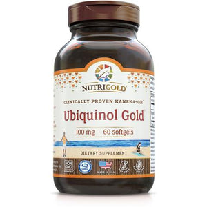 A bottle of NutriGold Ubiquinol Gold - 100 mg