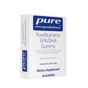 A package of Pure PureNutrients EPA/DHA Gummy