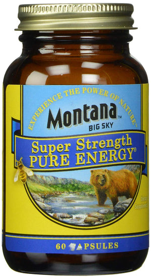 A bottle of Montana Big Sky Super Strength Pure Energy