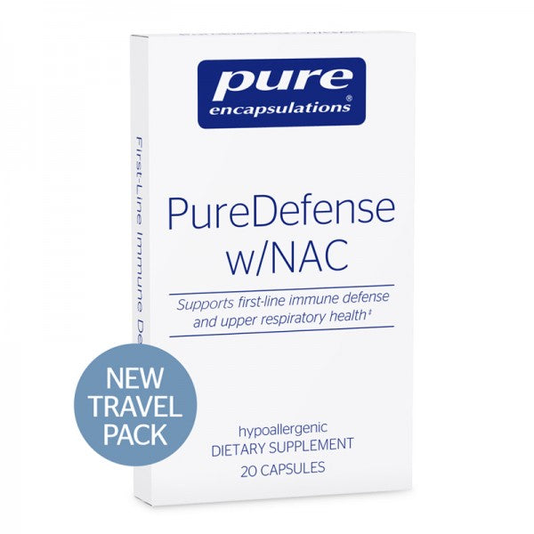 A package of Pure PureDefense w/NAC travel pack