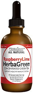 A bottle of Herbasway Herbagreen Tea - Raspberry Lime