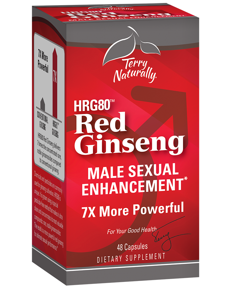 A package of Terry Naturally Red Ginseng (HRG80™) MALE SEXUAL ENHANCEMENT*