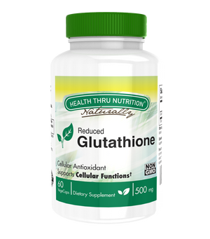 A bottle of Health Nutrition Glutathione GSH 500mg