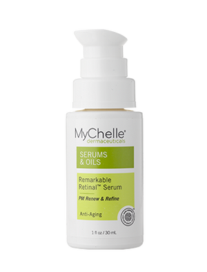A bottle of MyChelle Remarkable Retinal™ Serum