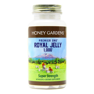 A jar of Honey Gardens Royal Jelly 1000