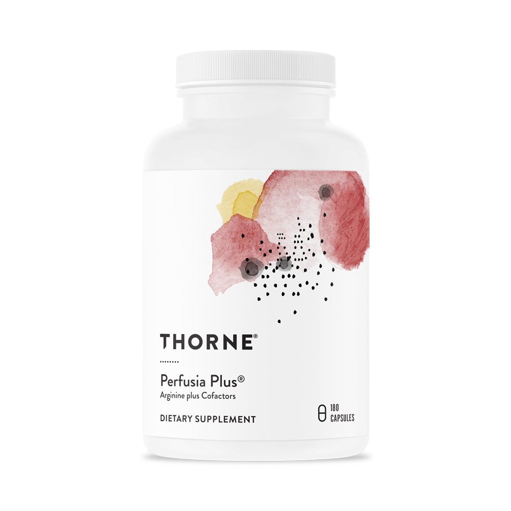A bottle of Thorne Perfusia Plus®