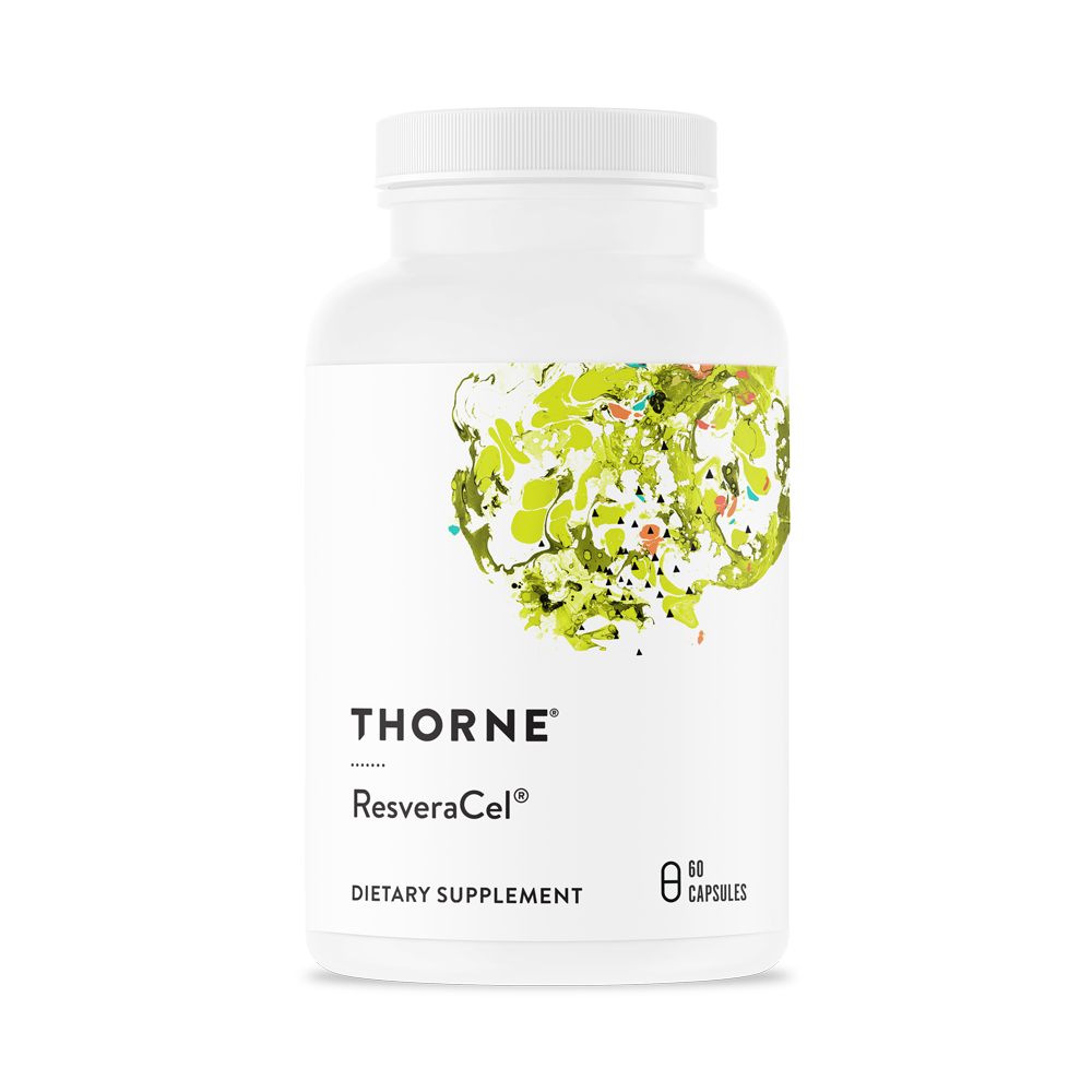 A bottle of Thorne ResveraCel®