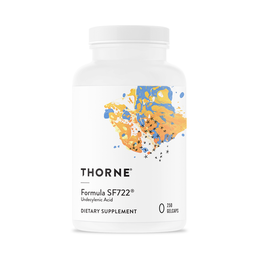 A bottle of Thorne Formula SF722®