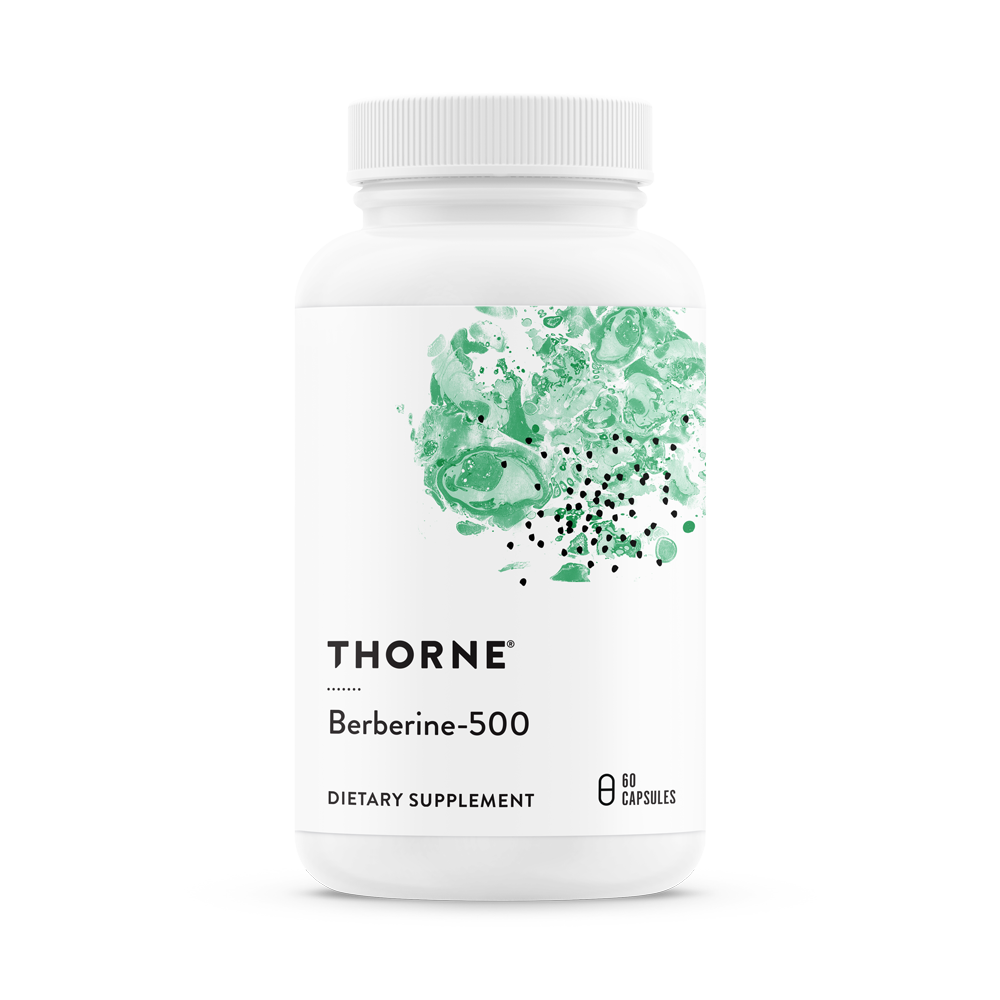A bottle of Thorne Berberine-500