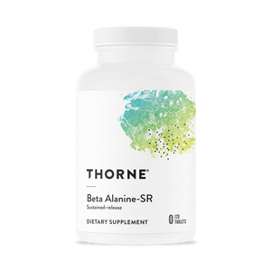 A bottle of Thorne Beta Alanine-SR