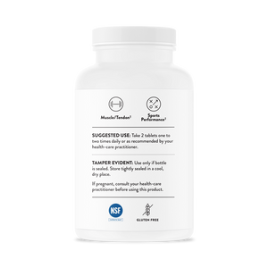 Side of bottle with additional information for Thorne Beta Alanine-SR