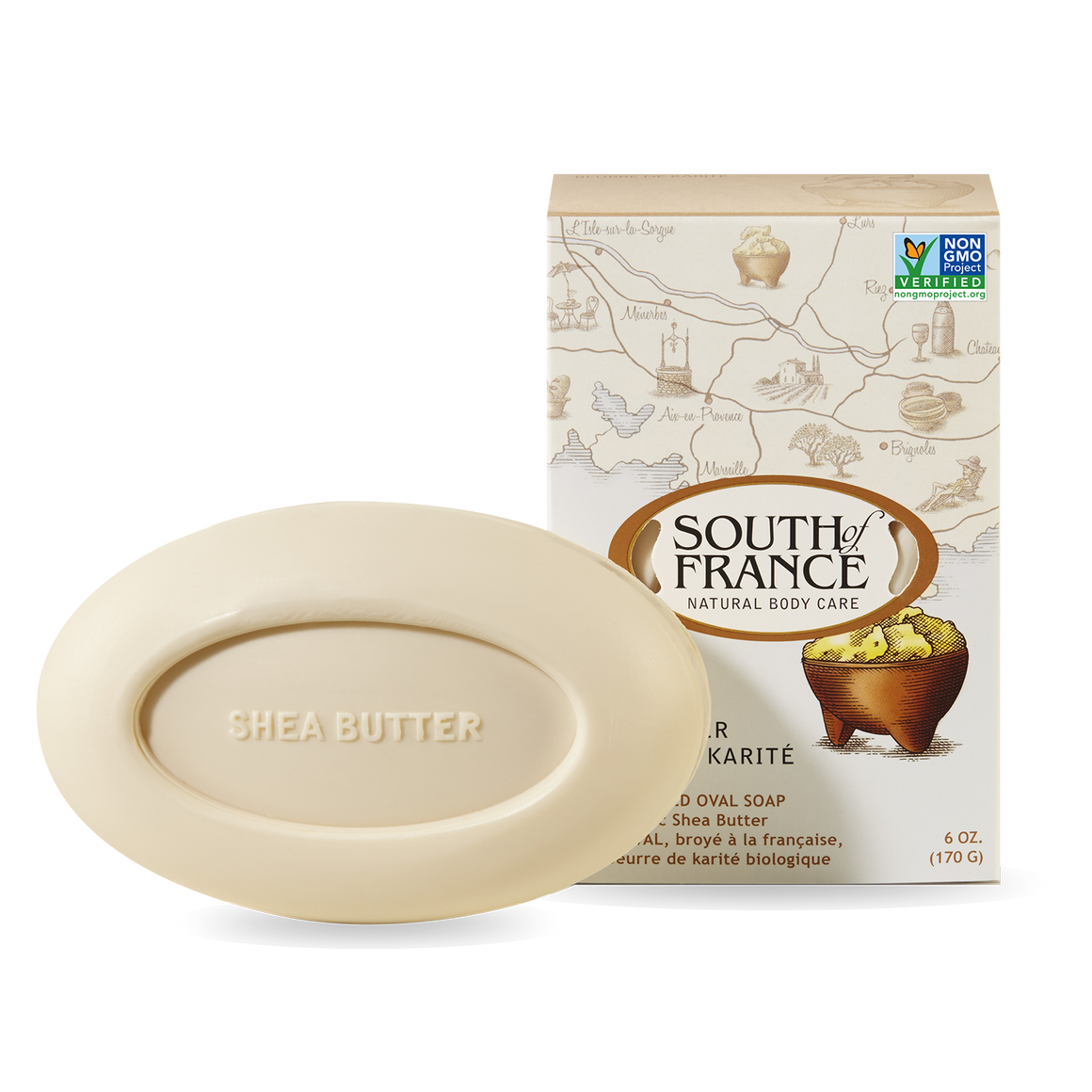 Shea Butter Bar Soap - South of France - 6 oz