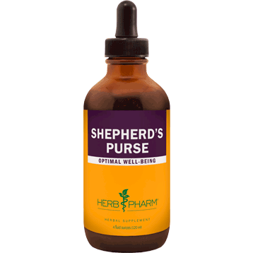 A bottle of Herb Pharm Shepherd's Purse