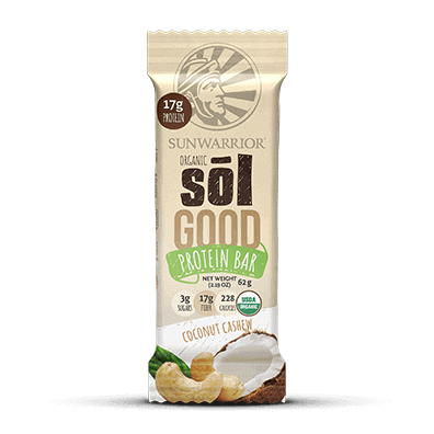 A Sunwarrior Sol Good - Coconut Cashew - single bar