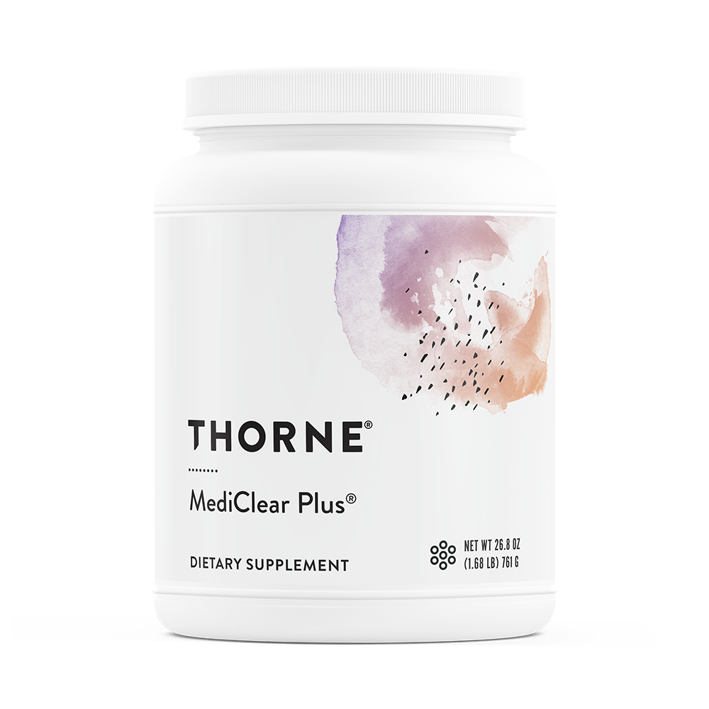 A jar of Thorne MediClear Plus®