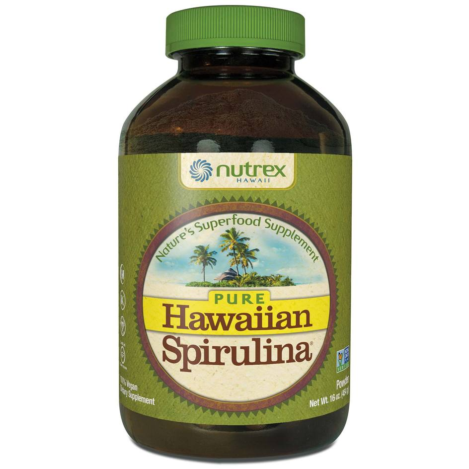 A bottle of Nutrex Hawaii Hawaiian Spirulina Powder - 16oz