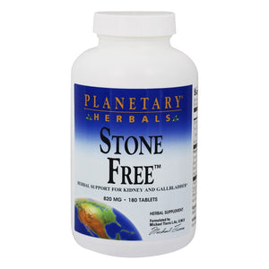A bottle of Planetary Herbals Stone Free™ 820 mg