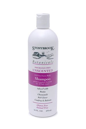 A bottle of Stony Brook Botanicals Shampoo Unscented 16oz