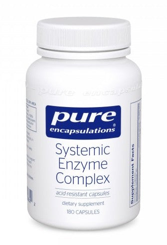 A bottle of Pure Systemic Enzyme Complex