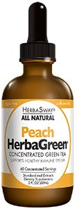 A bottle of Herbasway Herbagreen Tea - Peach