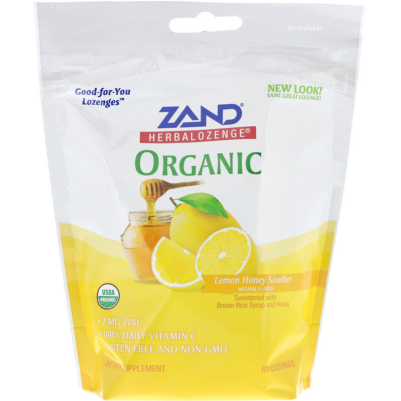 HerbaLozenge Lemon Honey Soother with Zinc