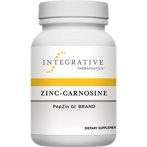 A bottle of Integrative Therapeutics Zinc-Carnosine