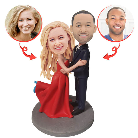 Red Dress Wedding Custom Bobblehead
