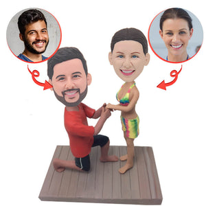 Marry me Propose Custom Bobblehead
