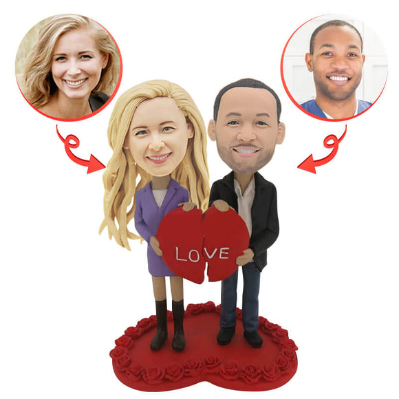 Lovers with Love Custom Bobblehead