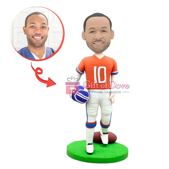 Custom NFL Rugby Player Bobblehead