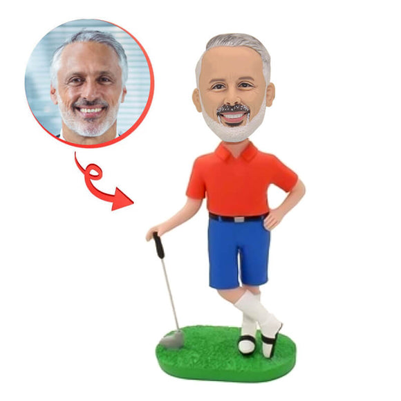 Custom Golfing Bobblehead For Father