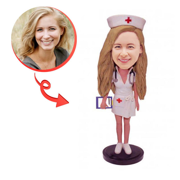 Custom Beautiful Nurse Bobblehead
