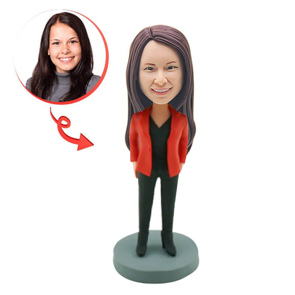 Custom Funny Office Lady Bobblehead