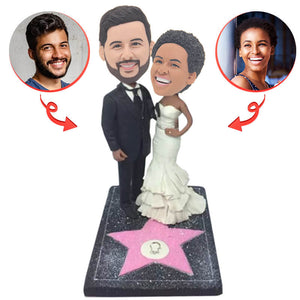 Custom Walk of Fame Couple  Bobblehead