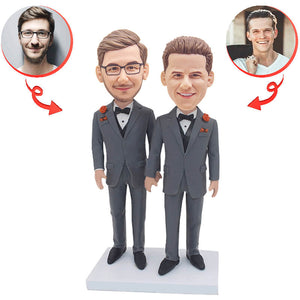 Groom And Groomsman Custom Bobblehead A