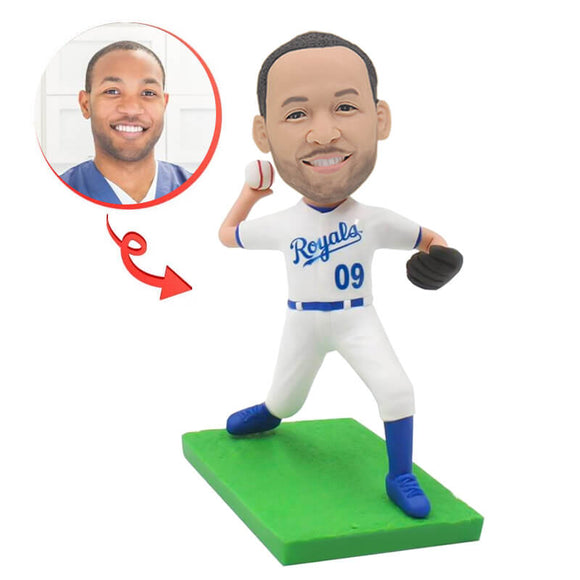 Custom Right Handed Pitcher Bobblehead