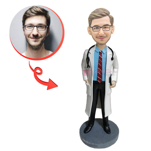 Red Tie Doctor Custom Bobblehead
