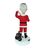Custom Merry Christmas Bobblehead Back view