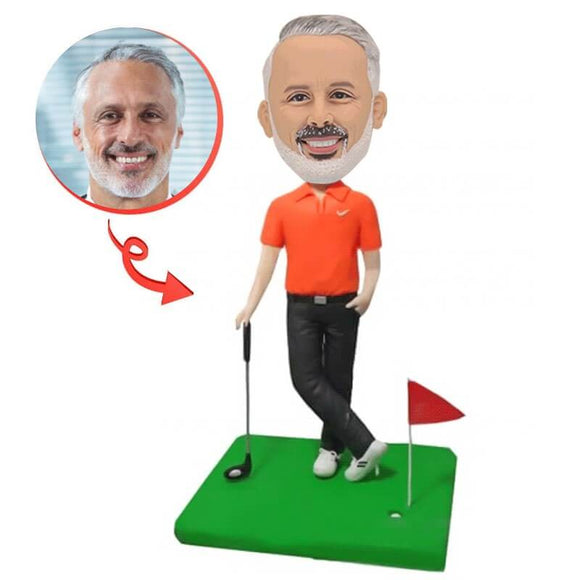 Custom Make Your Own Playing Golf Bobbleheads