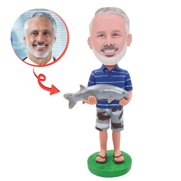 Custom Like To Fish Bobblehead