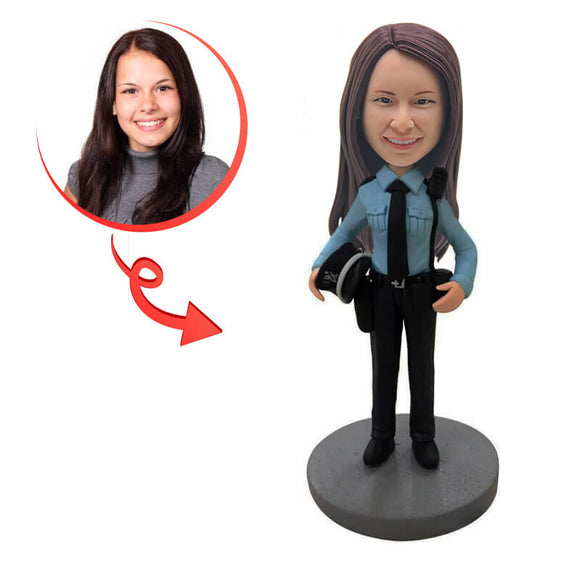 Custom Female Police Officer Bobblehead