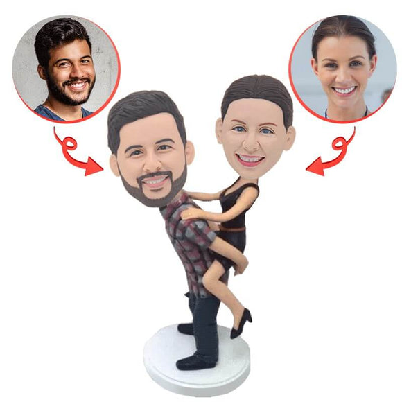 Custom Piggyback Couple Bobbleheads