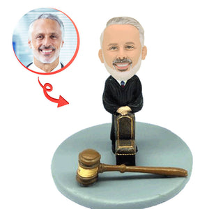 Custom Male Judge Bobblehead